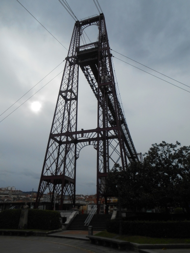 The bridge easily towers above everything in site