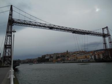 Suspension Bridge looms high over the estuary