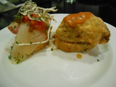 Pintxos with Bacalao and Eel