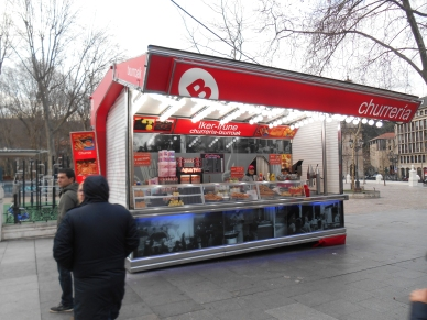 Churro Stand in Viejo along the Rio Nervion