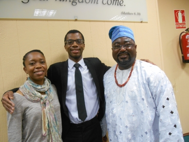 Sunday always brings out the best traditional outfits at the Kingdom Hall.