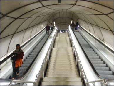 Escalators and Architecture in Metro Station