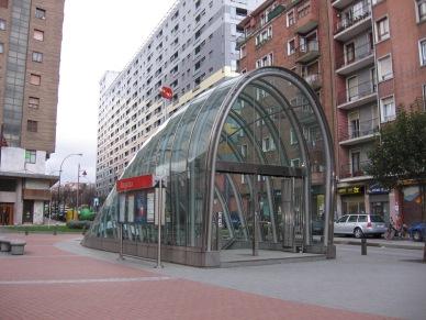 Artistic Round Metro Entrance
