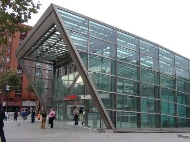Artistic Square Metro Entrance