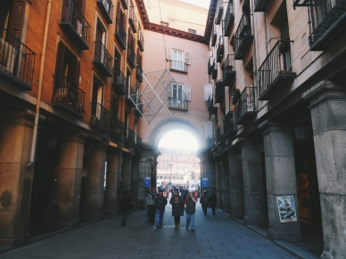 Entrance to Plaza Mayor in Madrid
