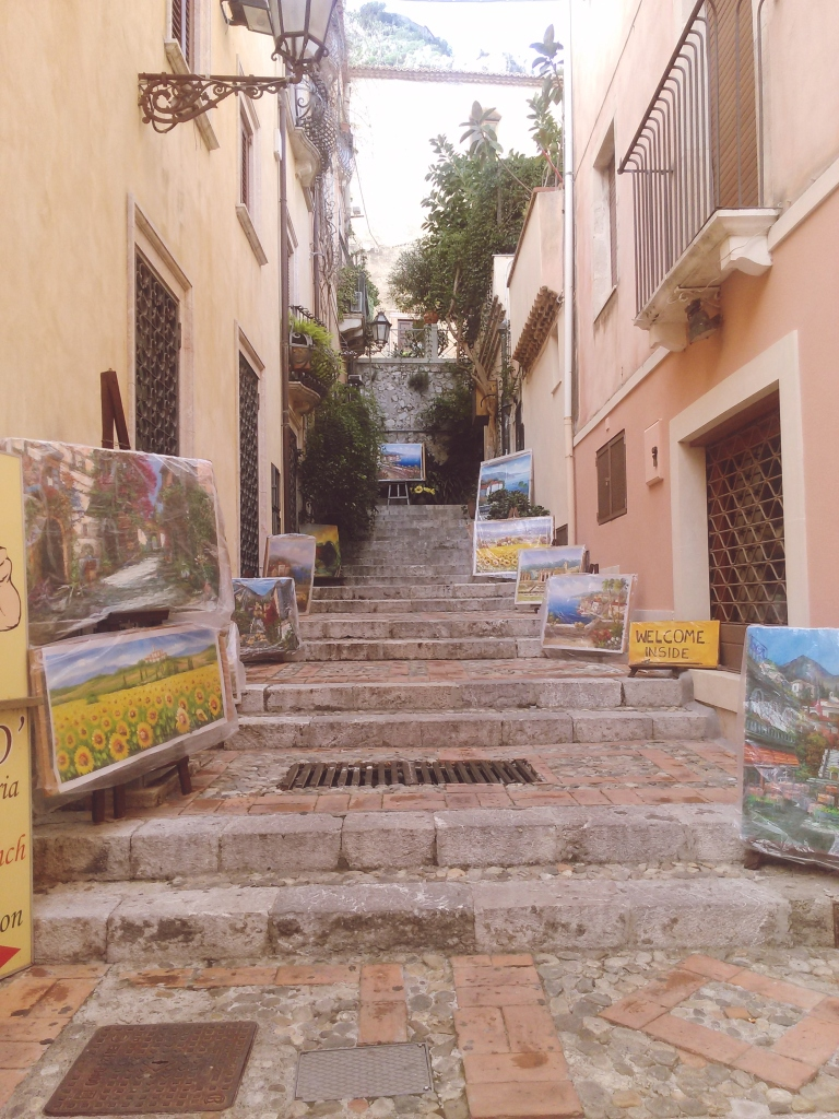 paintings of taormina